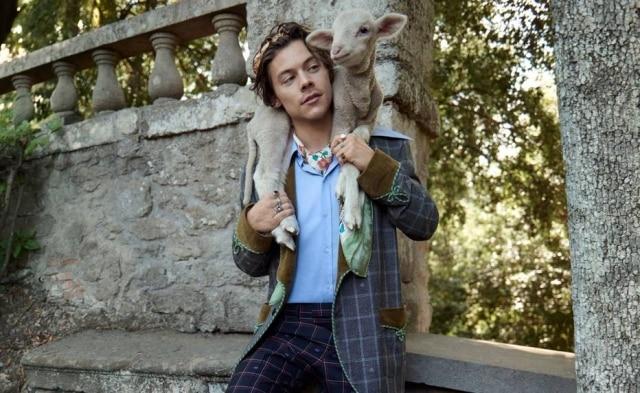 O cantor é estrela da campanha de Cruise 2019 da Gucci