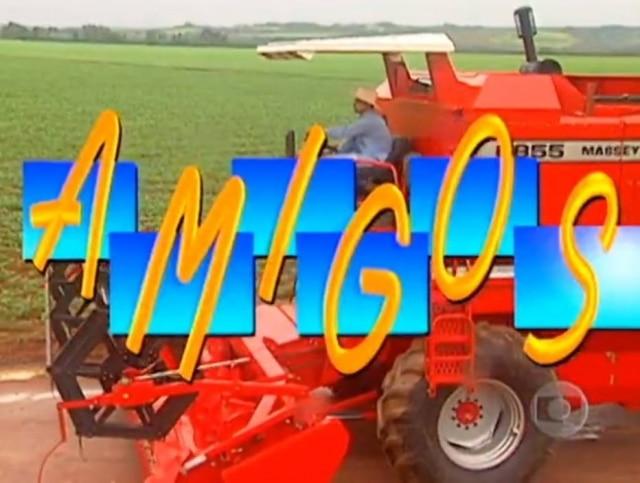 Abertura do primeiro programa 'Amigos', em 1995.