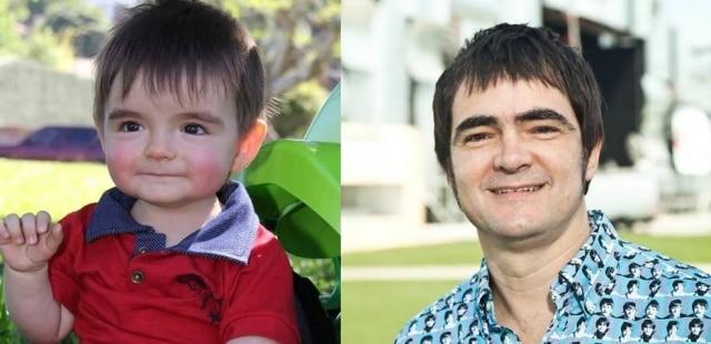 A semelhança entre um bebê e o cantor Samuel Rosa gerou vários comentários na internet