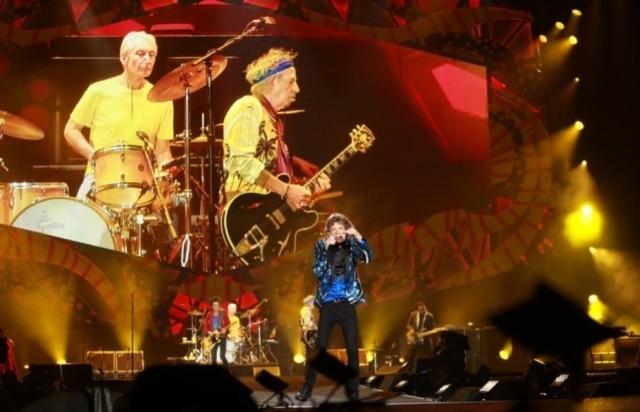 O baterista Charlie Watts com o Rolling Stones no estádio do Morumbi em 2016.