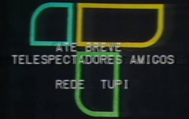 Imagem da última transmissão da TV Tupi, em 18 de julho de 1980