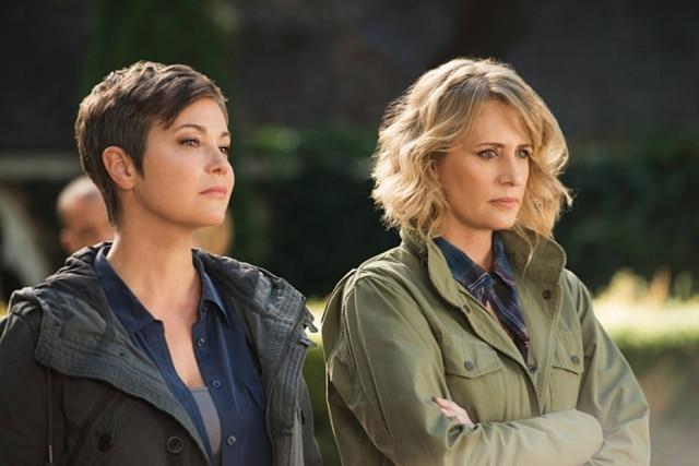 Kim Rhodes e Samantha Smithem 'Sobrenatural'