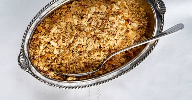 As amêndoas dão novo sabor e textura ao prato