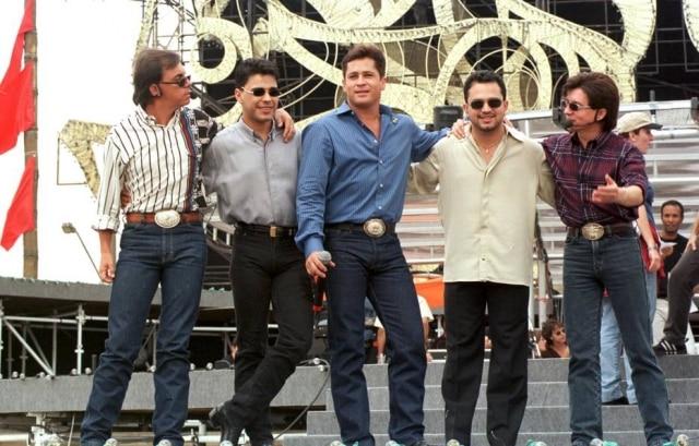 'Amigos' durante ensaio para o show do especial de 1998.