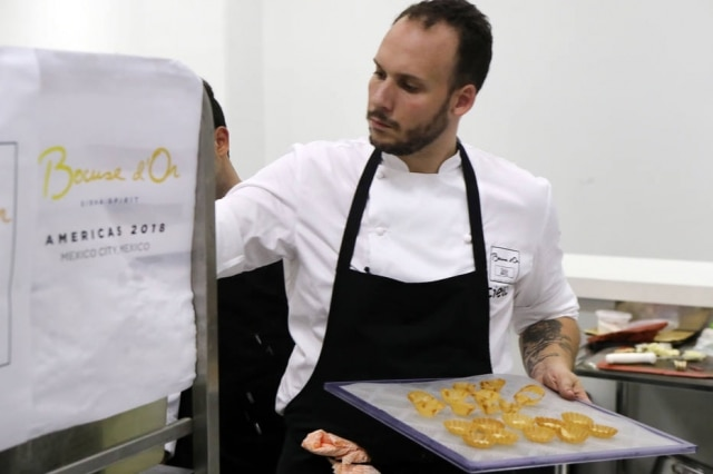 O chef Luiz Filipe Souza que representou o Brasil na final em Lyon em janeiro deste ano