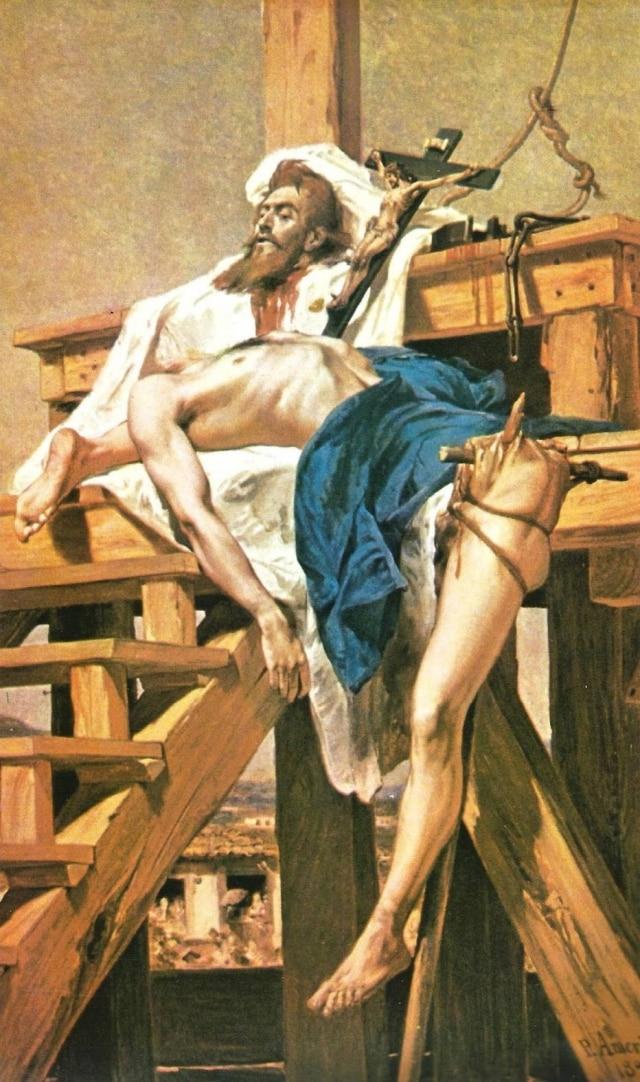 Tiradentes Esquartejado(1893), óleo de Pedro Américo