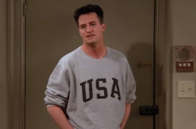 O ator Mathew Perry na série 'Friends'