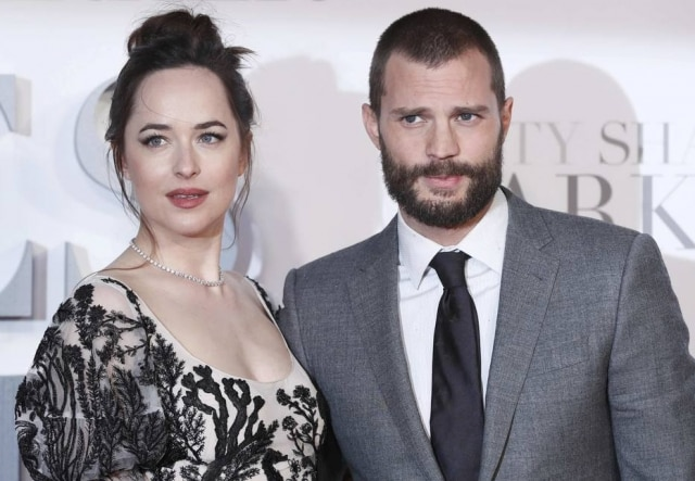 Atriz Dakota Johnson e ator Jamie Dornan