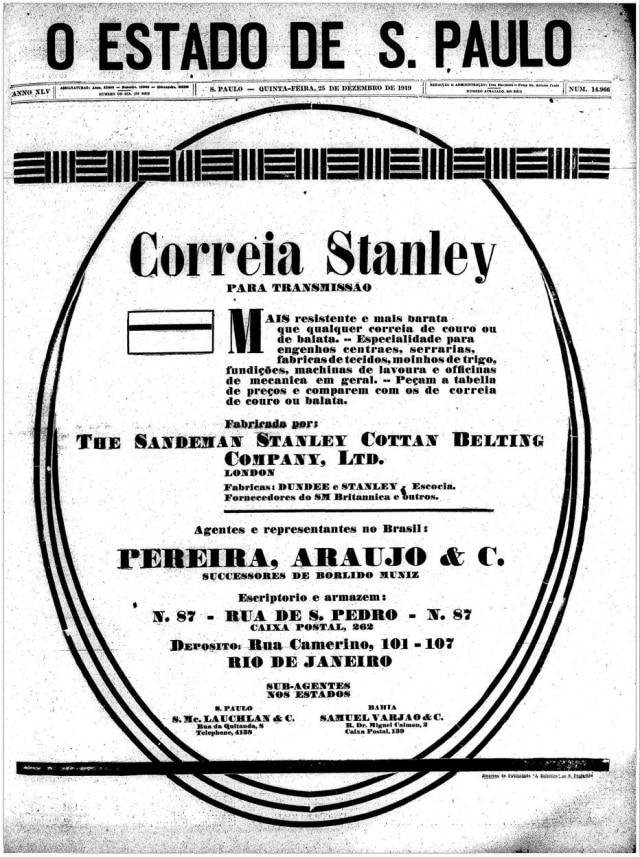 Capa doEstadão de 25 de dezembro de 1929