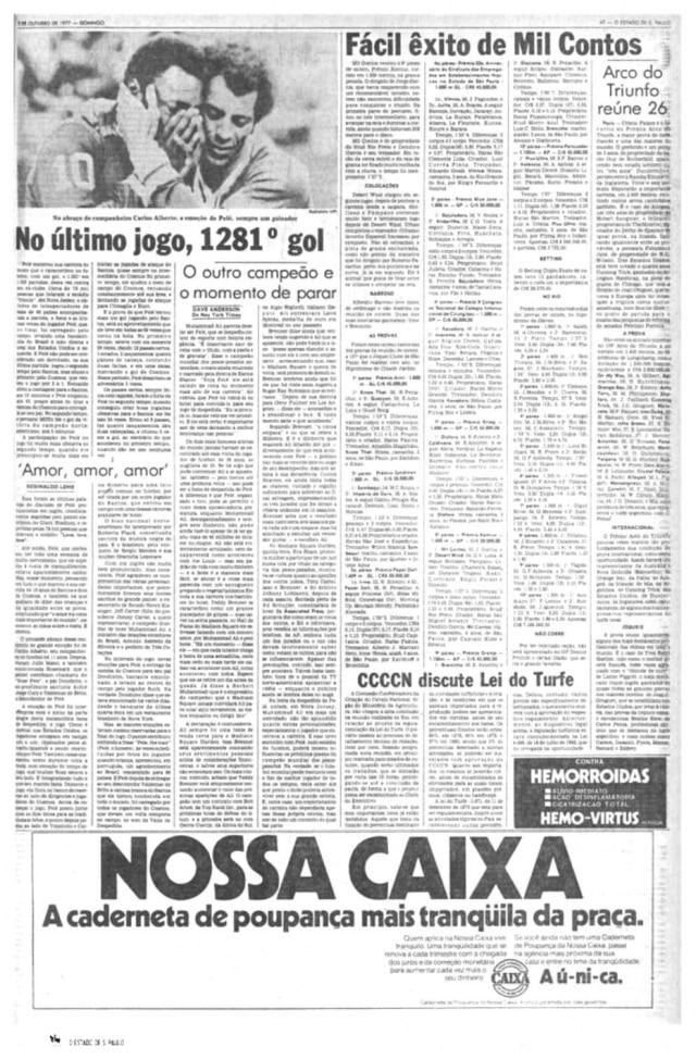 Pelé e Carlos Alberto Torres noCosmos em 1977