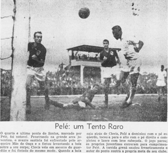 A jogada magistral de Pelé nojornal de 3/8/1959