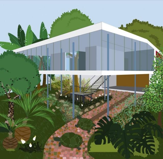 A Casa de Vidro, de Lina Bo Bardi, é uma das 10 casas mostradas no livroCasacadabra. As autoras, Simone Sayegh e Bianca Antunes, querem despertar nas crianças o interesse porarquitetura