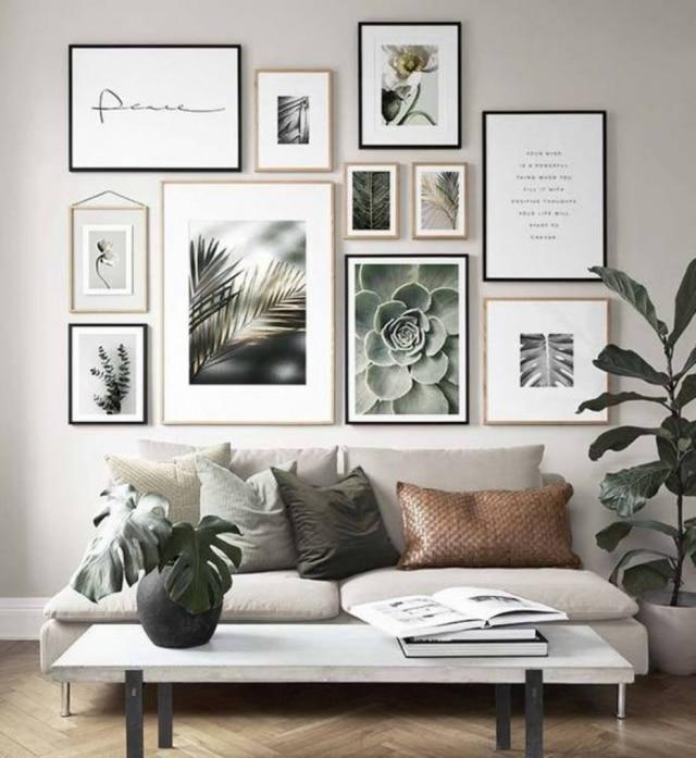 Seja uma coleção ou apenas uma peça elegante. A maneira de dispor seu quadro pode valorizar ou não a decoração