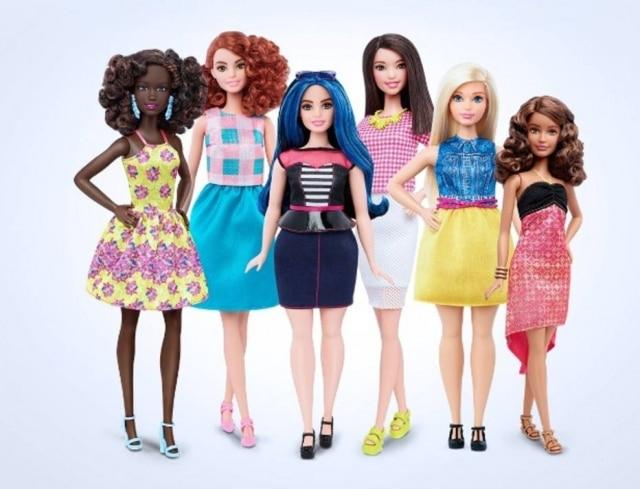 Nova linha de Barbies tem aintenção de fazer com queas meninas se identifiquem com suas bonecas.
