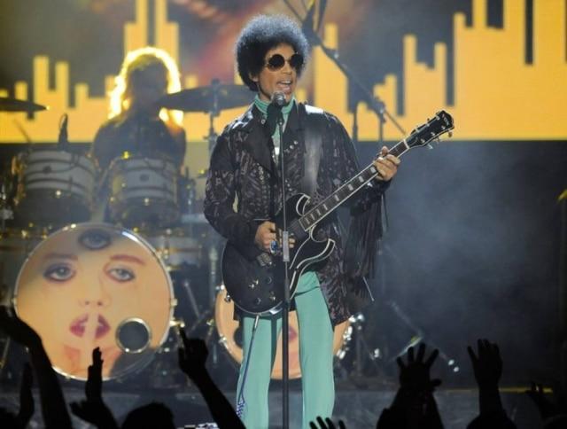 Prince duranteapresentação no Billboard Music, em Las Vegas em maio de 2013