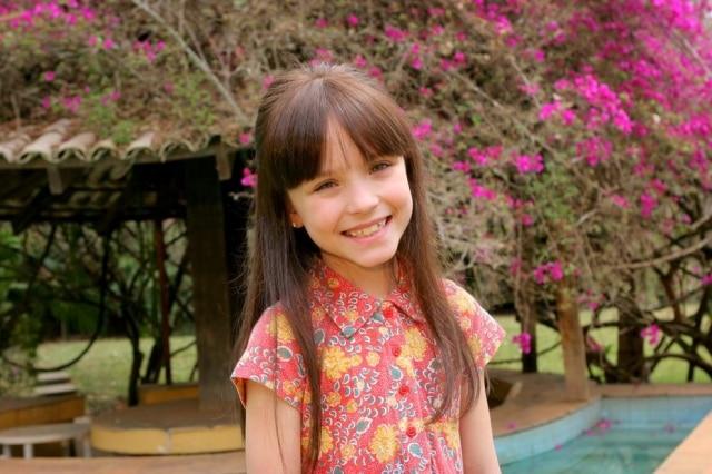 Larissa Manoela, em 2012, quando fazia a novela 'Carrossel'