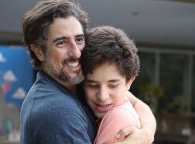 Marcos Mion e seu filho, Romeo