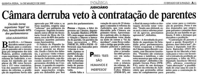 > Estadão - 16/3/2000