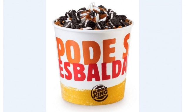 'Balde' de 980 ml de sorvete do Burger King.