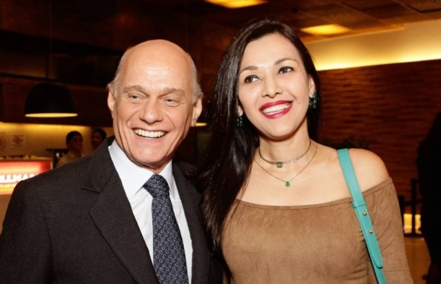 Ricardo Boechat e Veruska Seibel Boechat em 2017.