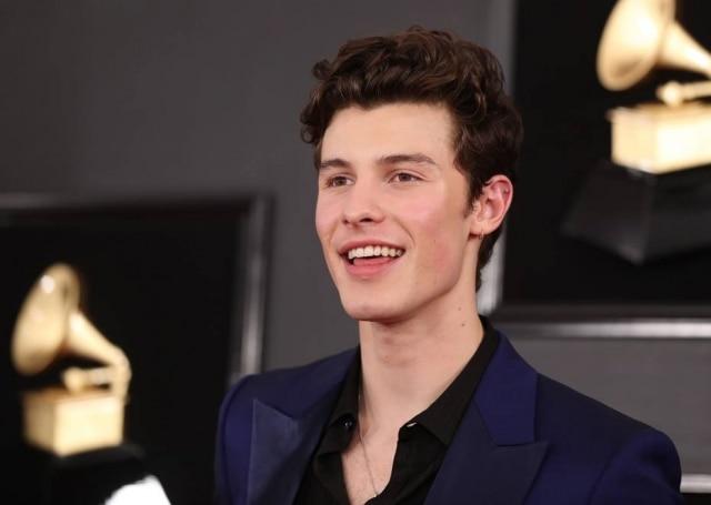 Shawn Mendes na 61ª edição do Grammy Awards, em janeiro de 2019.