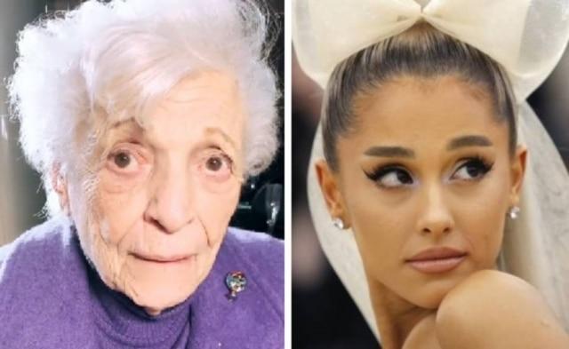 Nonna, a avó de Ariana Grande, e a cantora.