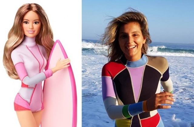 Maya Gabeira inspirou Barbie surfista lançada pela Mattel.