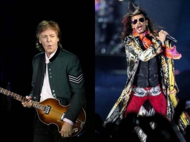 Paul McCartney e Steven Tyler