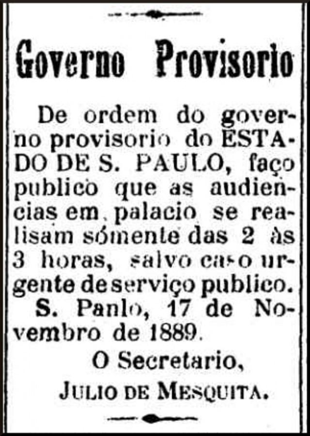 Clique aqui para ver a edição do jornal A Província de São Paulo de 18/11/1889