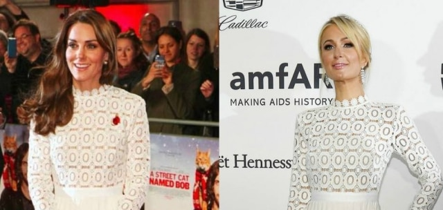 Kate Middleton e Paris Hilton usaram o mesmo vestido da marca Self-Portrait