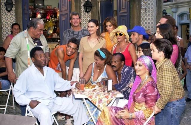 Pelé em cena da novela'O Clone', em 2001.
