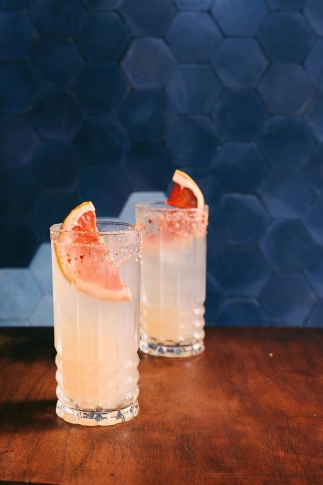 Paloma.Drinque com tequila e refrigerante artesanal de grapefruit, do Lupe Bar y Taqueria