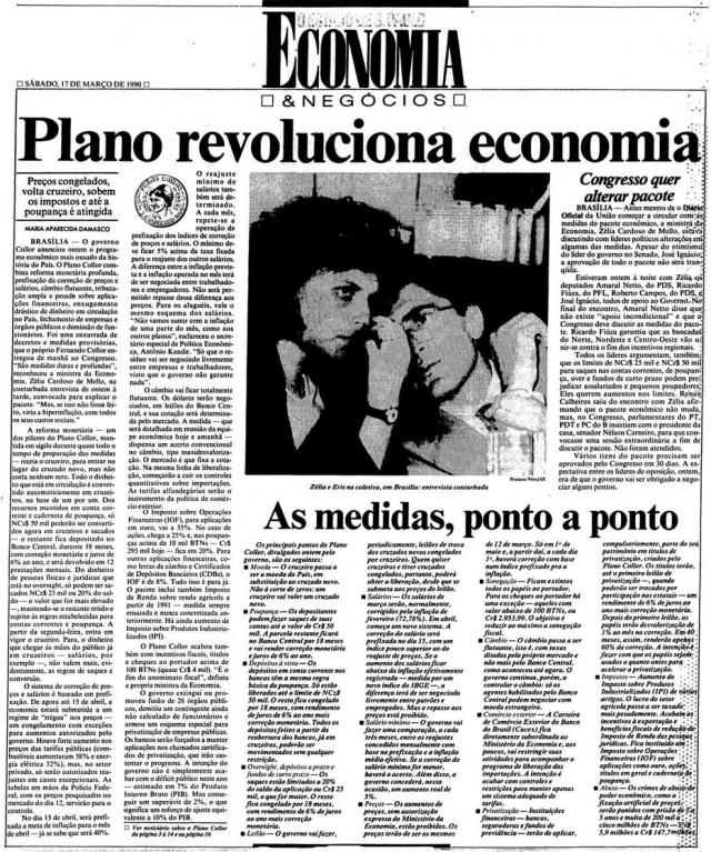 O Estado de S.Paulo- 17/3/1990.Clique aqui para ver mais