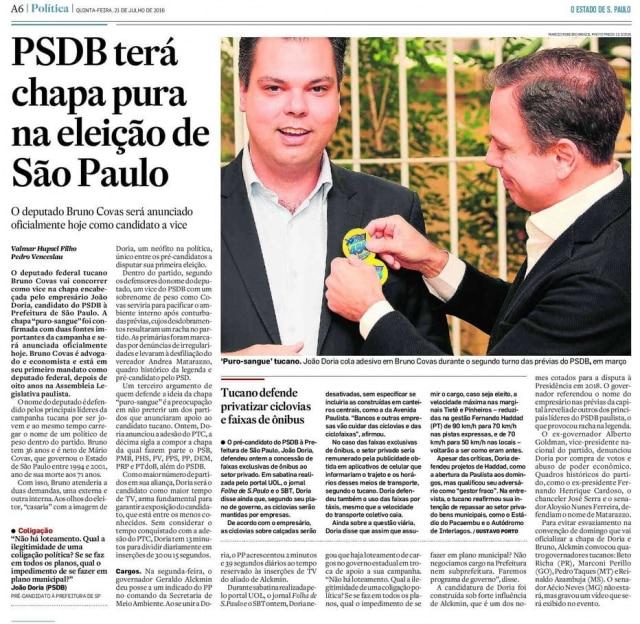 >> Estadão - 21/07/2016