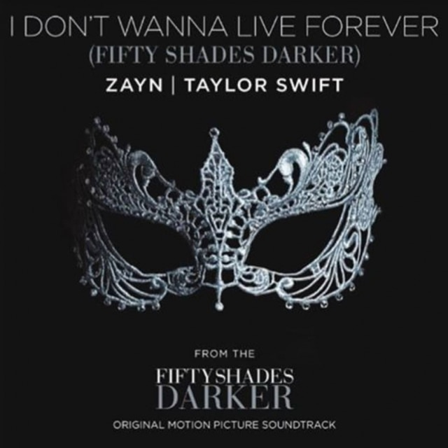 Arte de divulgação do single 'I Don't Wanna Live Forever'