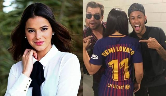 Neymar e Marquezine terminaram namoro em junho e suposto affair entre o jogador e Demi Lovato tem circulado na redes sociais