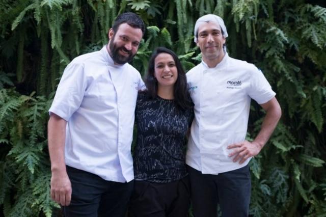 Marcelo Corrêa Bastos, sua irmã e sócia Nina Bastos e Rodrigo Oliveira, parceria que resultou na cerveja Mocotaia