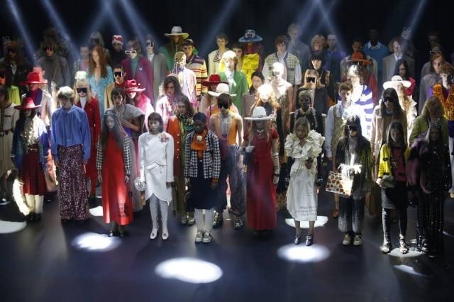 A gang excêntrica do verão 2019 da Gucci, no palco do Le Palace, em Paris