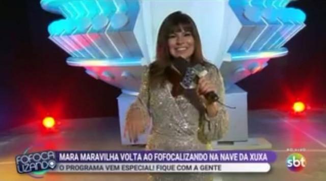Mara Maravilha retorna ao'Fofocalizando'