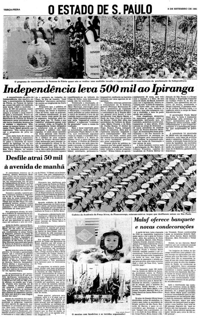 > Estadão - 08/9/1981