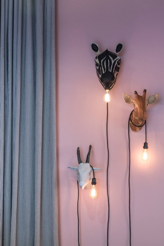Luminárias da linha Zoo, de Dedéia Meirelles