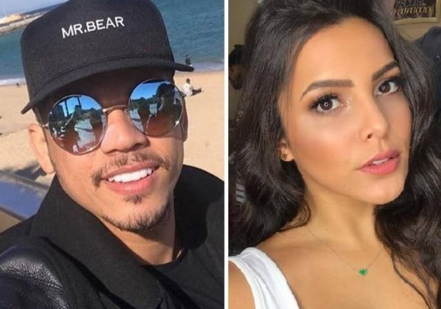 Jota Amancio, assessor de Neymar, e a ex-BBB Emilly Araújo