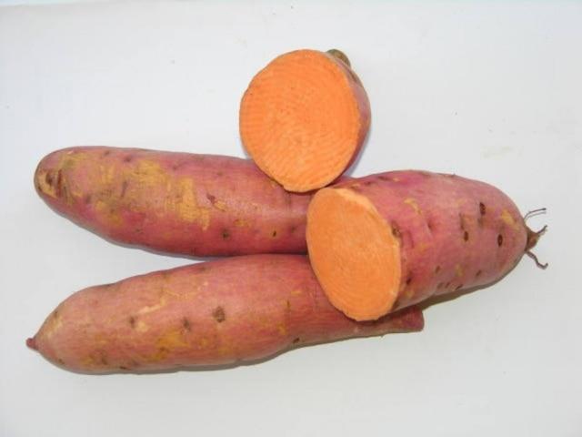 O consumo de50 gramas dessa batata-doce supre as necessidades diárias de vitamina A.