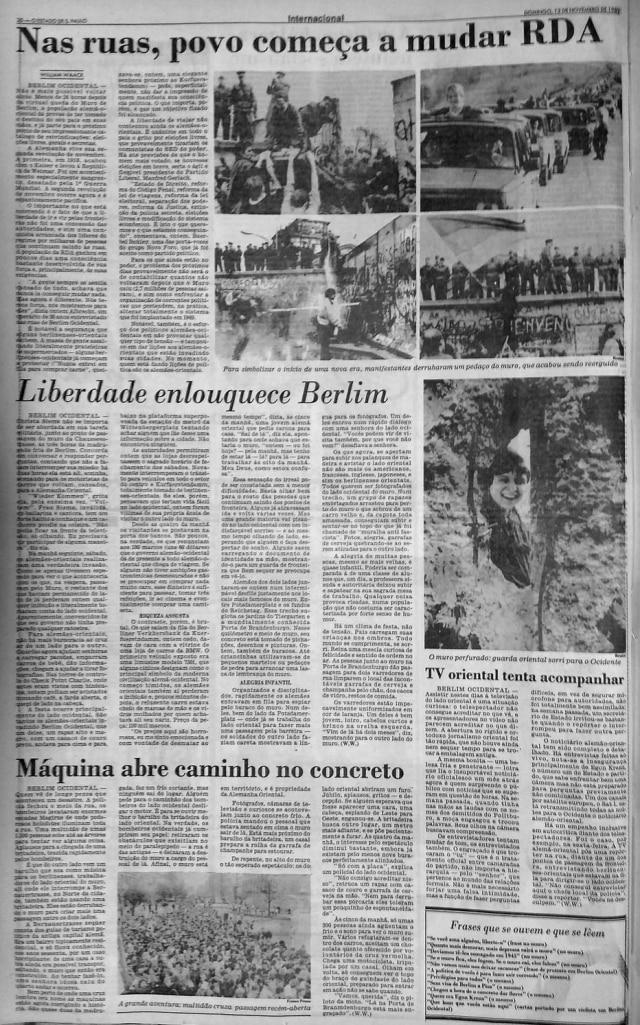 O Estado de S.Paulo - 12/11/1989