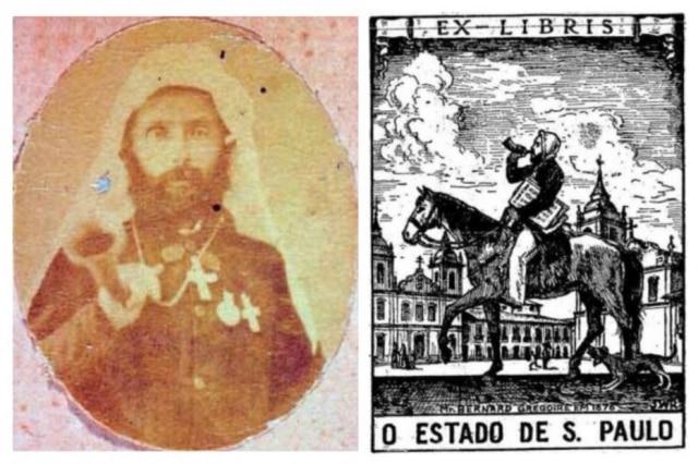 Bernard Gregoire em foto de Militão Augusto de Azevedo e no ex-libris do Estadão