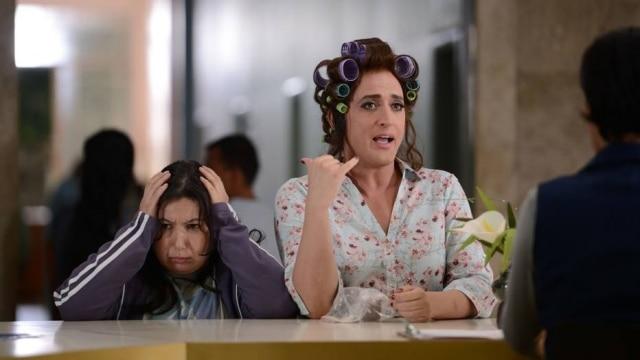 Paulo Gustavo como Dona Hermínia em 'Minha Mãe é uma Peça'.