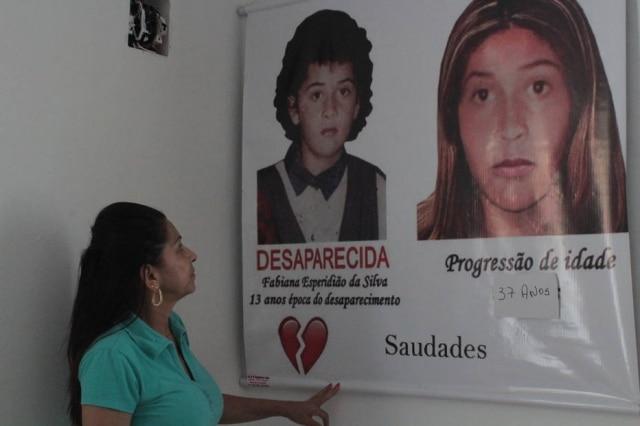 A Polícia Civil fez uma montagem de progressão de idade de Fabiana. Ivanise diz não estar preparada para ouvir que sua filha está morta, caso um dia isso se confirme.
