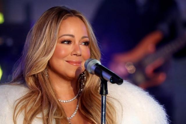 Mariah Carey durante celebração de ano-novo, em 2017, na Times Square.