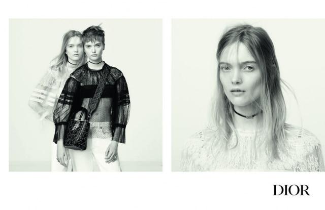 As modelos gêmeas Ruth e May Bell estrelam a nova campanha da Dior.