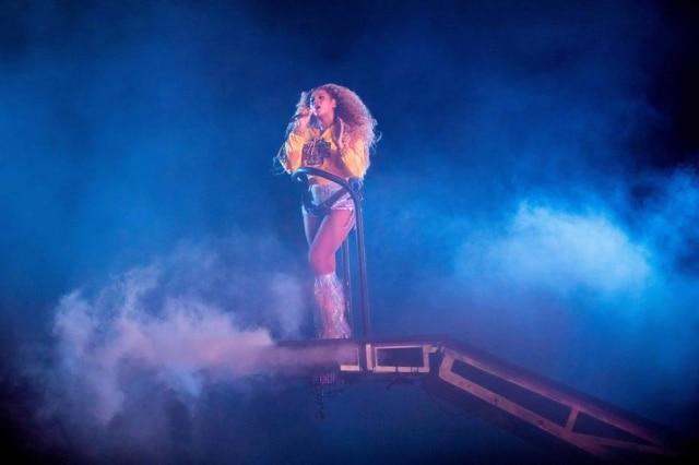 Beyoncése apresentou neste sábado, 14, no festival Coachella em Indio, Califórnia